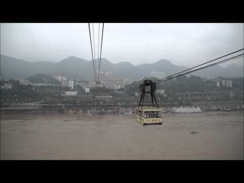 Chongqing Cablecar Yangtze river, China