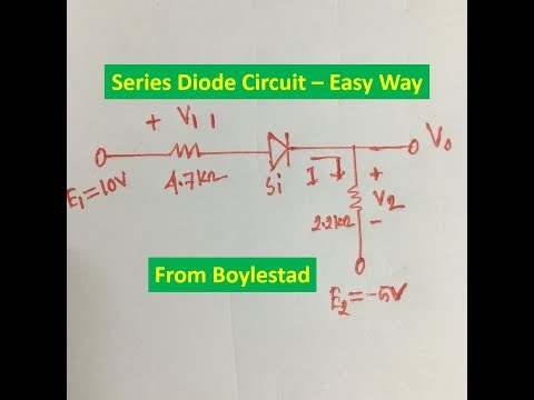 Series Diode Circuit Solution (Boylestad Example 2 9)