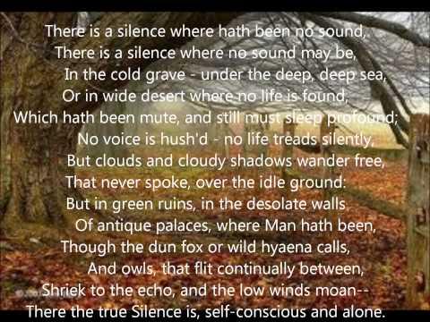 """Silence"" by Thomas Hood"
