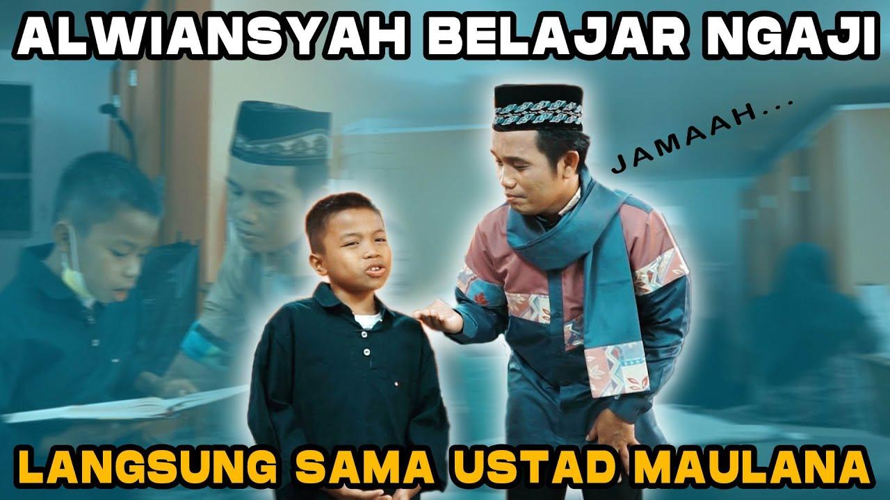Masyaallah...Alwiansyah diajarin ngaji sama ustadz Maulana
