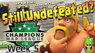ARE THERE STILL UNDEFEATED CLANS? - CWL Lite League Week 5 Recap! - Clash of Clans - CWL Lite