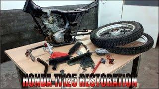 1975 Honda TL125 K2 Full Restoration Part 1 ( Frame Restoration )