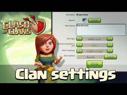 Clash Of Clans | Sneak Peek #2 - Clan Settings! - October 2014