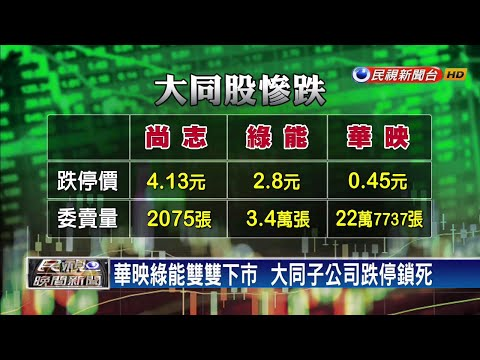 華映綠能雙雙下市  大同子公司跌停鎖死-民視新聞