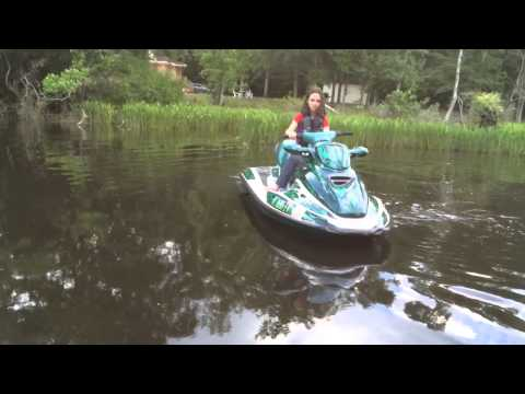 Aud doing solo driving on jet ski