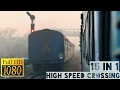 15 in 1: High Speed Crossings | Rajdhani Express, Shatabdi Express, Superfast - INDIAN RAILWAYS !!!