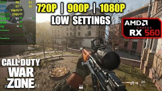 RX 560 | Call of Duty: Warzone - 1080p, 900p, 720p