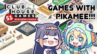 【COLLAB】 Playing games with Pikamee!!!