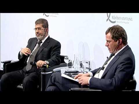 Egyptian President Mohamed Mursi held speech in Berlin