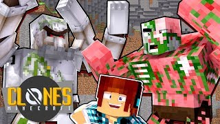 Minecraft Clones #8 - BATALHA DE MOBS !!