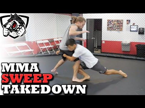 Effective MMA Takedown Sweep: DoubleLeg Variation