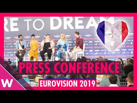 """France Press Conference: Bilal Hassani """"Roi"""" @ Eurovision 2019 first rehearsal"""