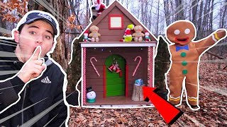 (Insane) I FOUND THE EVlL GINGERBREAD MAN'S HOUSE DEEP IN THE FOREST! (SECRET BASE) (SNEAKlNG IN)