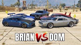 GTA 5 ONLINE - BRIAN VS DOM (PAUL WALKER VS VIN DIESEL)