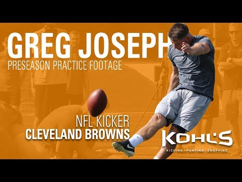 Cleveland Browns NFL Kicker Greg Joseph   Preseason Practice Footage