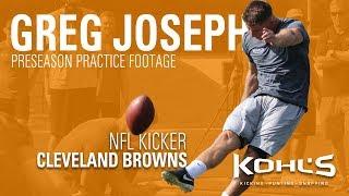 Cleveland Browns NFL Kicker Greg Joseph | Preseason Practice Footage