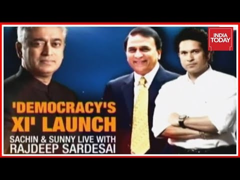 Sachin & Gavaskar With Rajdeep Sardesai At 'Democracy's XI' Launch | India Today Exclusive