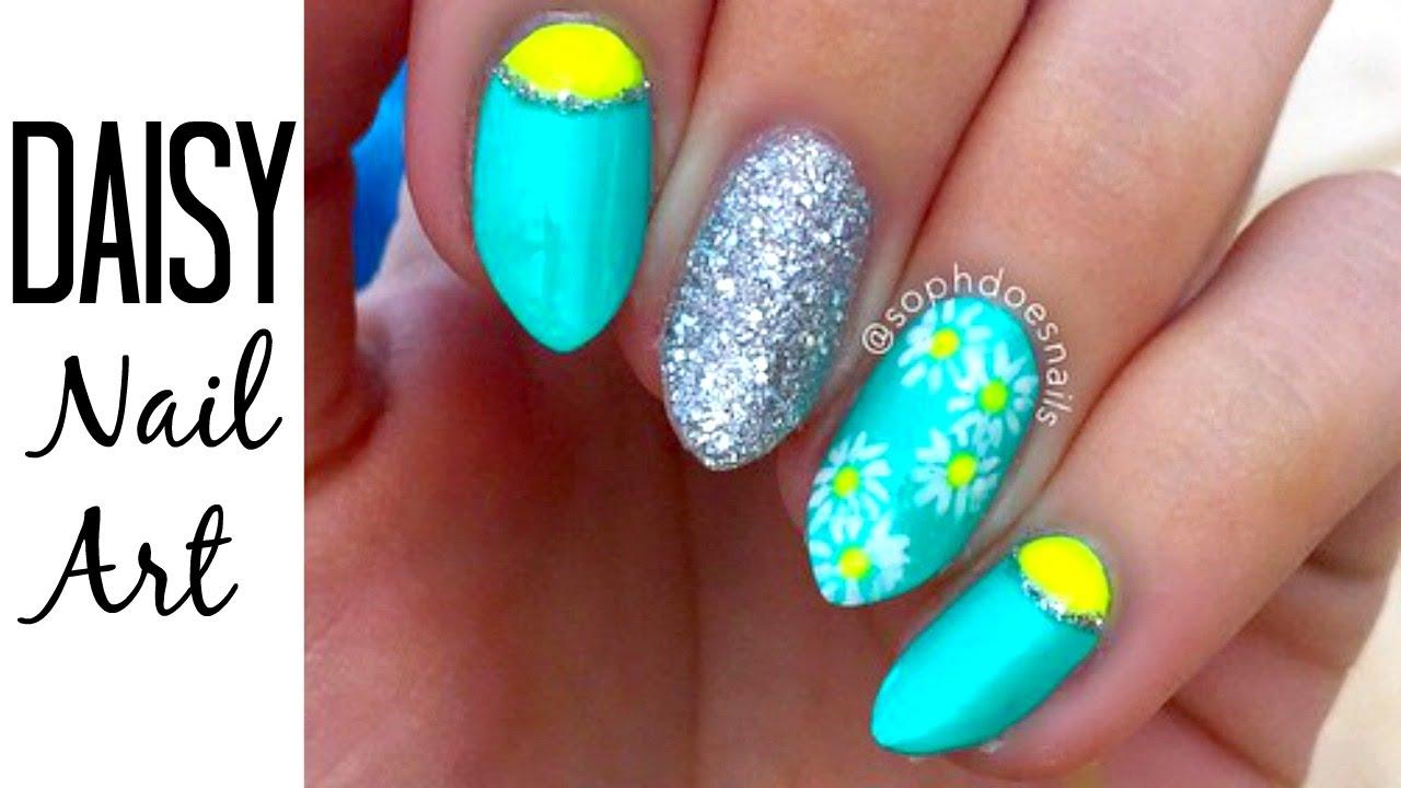 Pretty Daisy Nails | sophdoesnails - YouTube