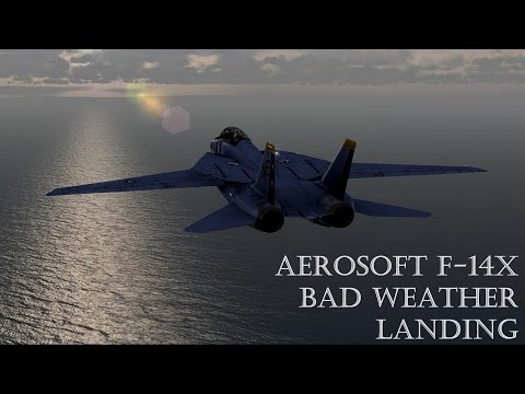 Aerosoft F-14X Tomcat low vis Automatic Carrier Landing System (ACLS) Talkthrough   FSX  STEAM   P3D
