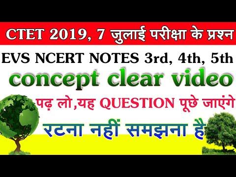 EVS NCERT E class 3rd 4th 5th notes Hindi mein full explanation CTET 2019//KVS//NVS//TET #LIVE