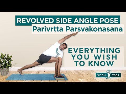 Parivrtta Parsvakonasana (Revolved Side Angle Pose) Benefits, How to Do by Yogi RiteshSiddhi Yoga