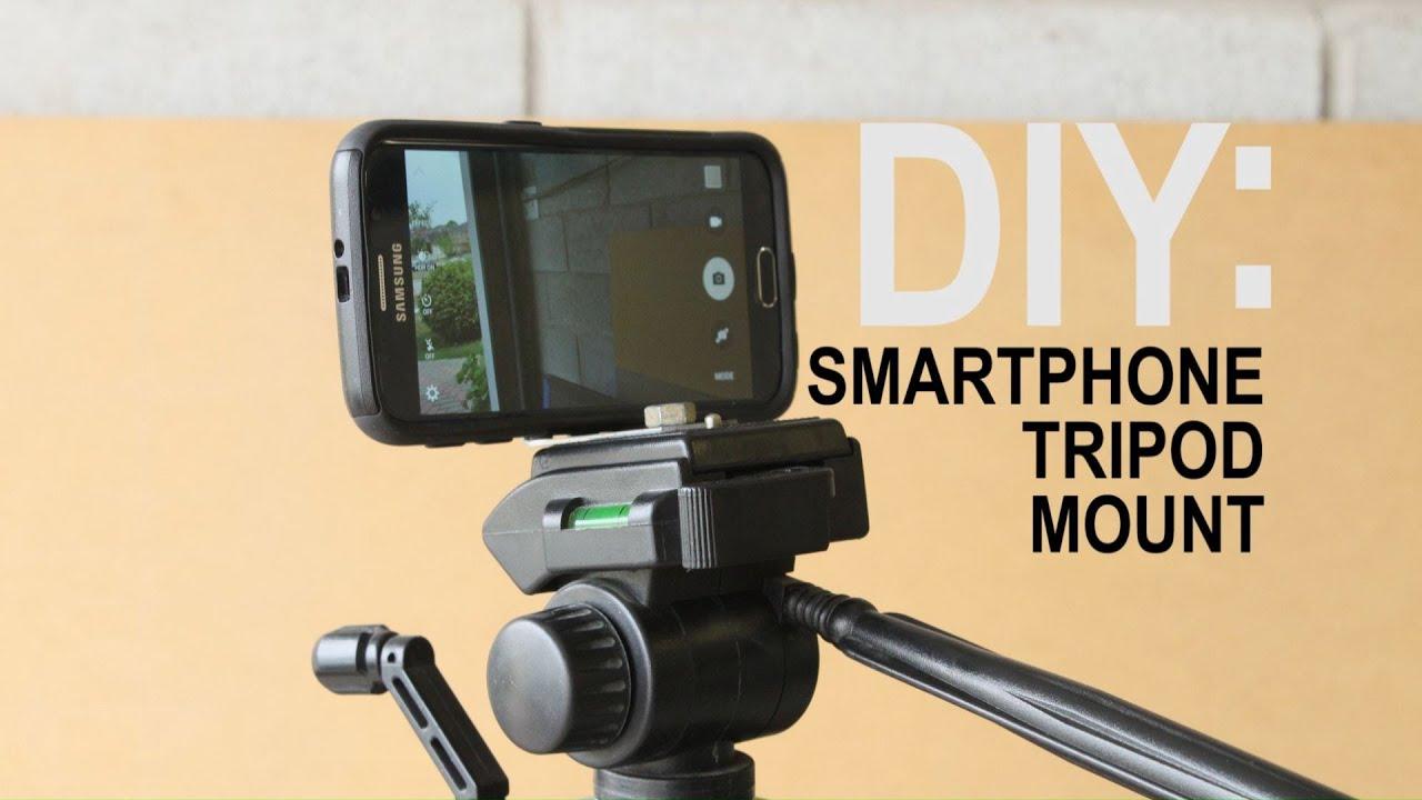 DIY Tripod Phone Mount FAST - YouTube