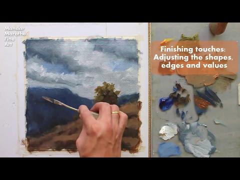 Oil Painting Demo  – Moonlight –  Mandar Marathe