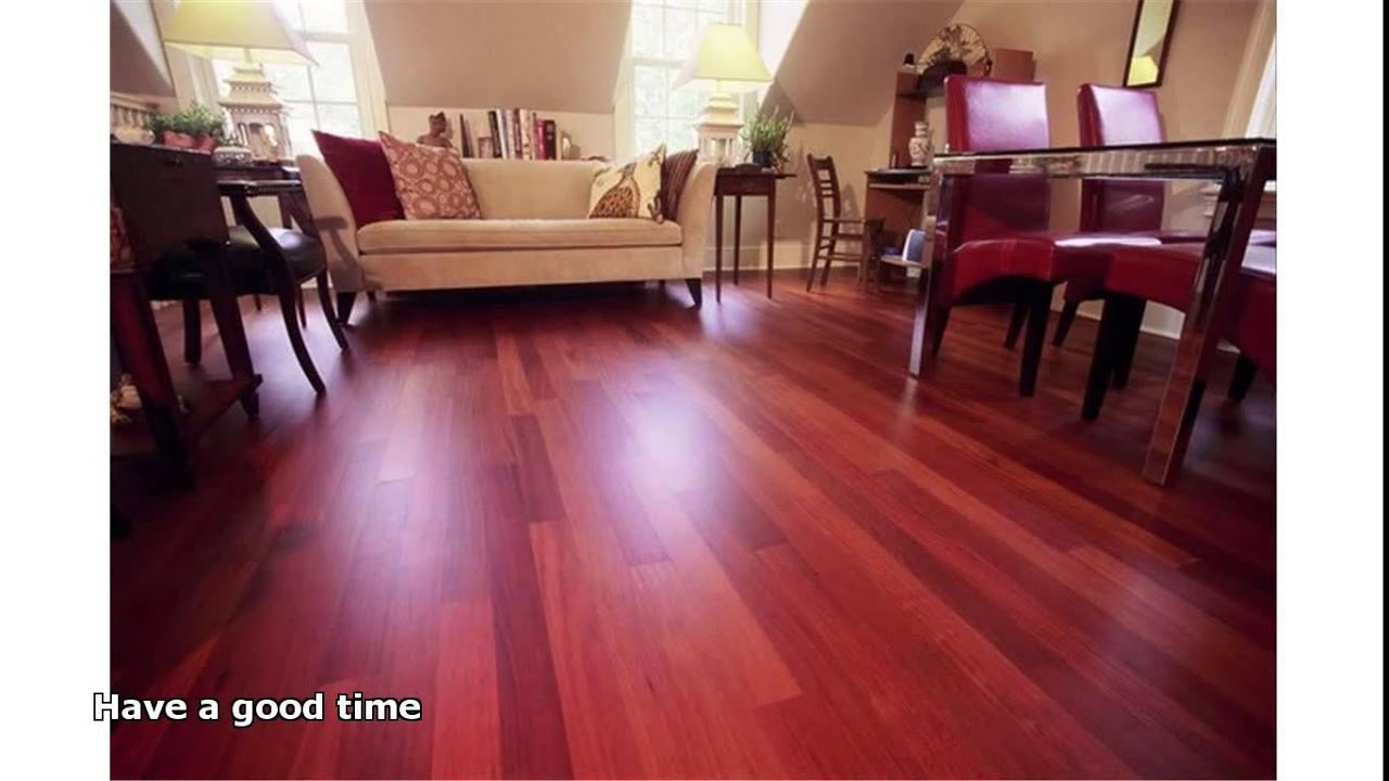 santos mahogany hardwood flooring - YouTube
