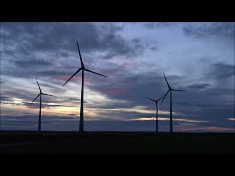 31.12.2017 Wind farm Feldheim in strong wind, Happy New Year 2018