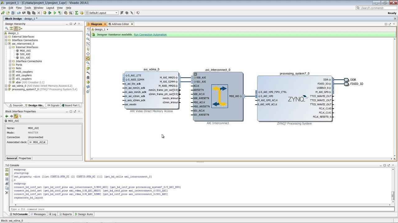 Targeting Zynq Using Vivado IP Integrator