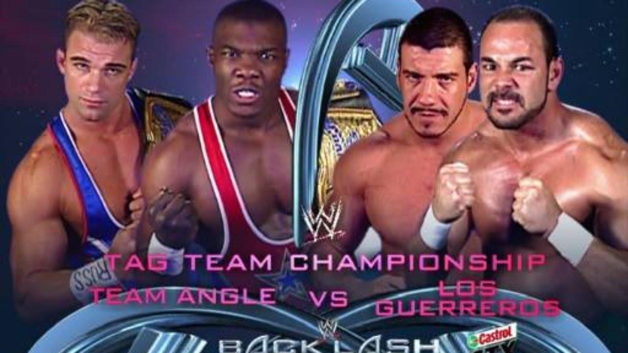 Backlash 2003 WWE Tag Titles Team Angle Vs Los Guerreros - YouTube