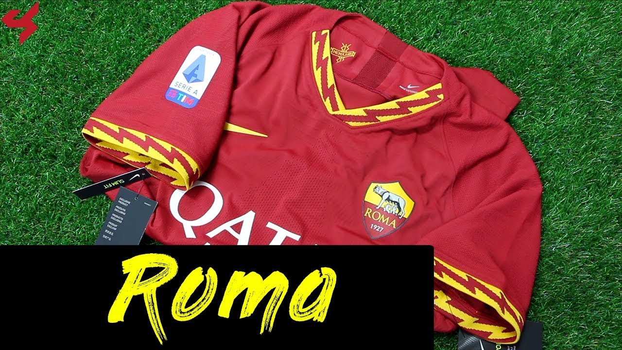 cheap for discount 7d062 99225 Nike AS Roma 2019/20 Florenzi Vapor Home Jersey Unboxing + Review Subside  Sports