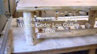 The Log Furniture Store - Cedar Log End Table