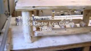 The Log Furniture Store - Cedar Log End Table