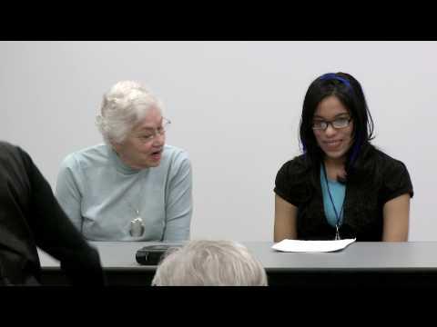 Student Interns Interview Holocaust Survivors: Hanne Liebmann and Annette Perez