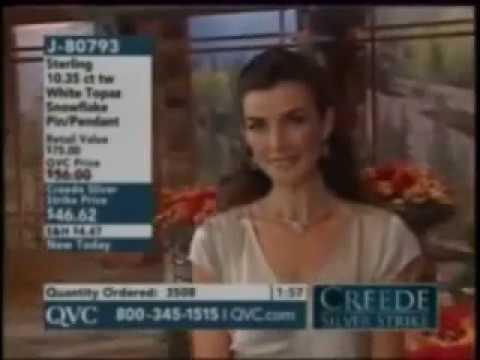 QVC model Lorraine modeling jewelry
