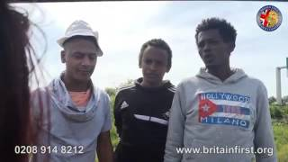 Britain First Party Challenging Calais Migrants