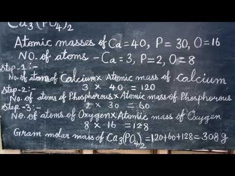 Calculation Of Molar Masses Ca3 PO4