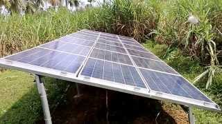 Solar Water Pumping -5H.P- By kohima Energy Pvt Ltd at Prathipadu,E.G.Dist., Andhra Pradesh.
