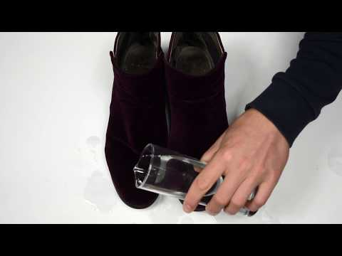 How to protect velvet shoes from water
