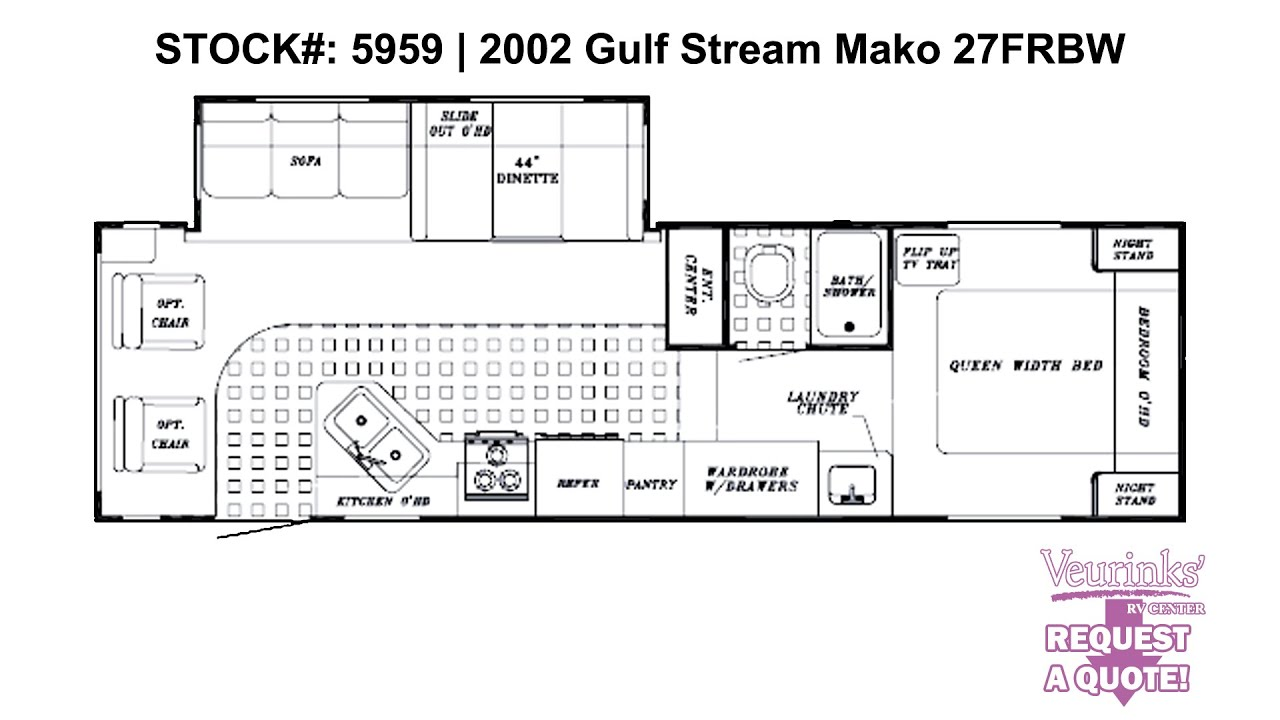 Gulf Stream Mako27FRBW Used Rear Living 5th Wheel 2002   Grand ...