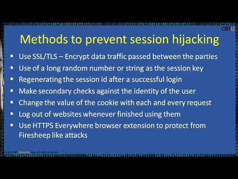 11.6 Session hijacking - countermeasures