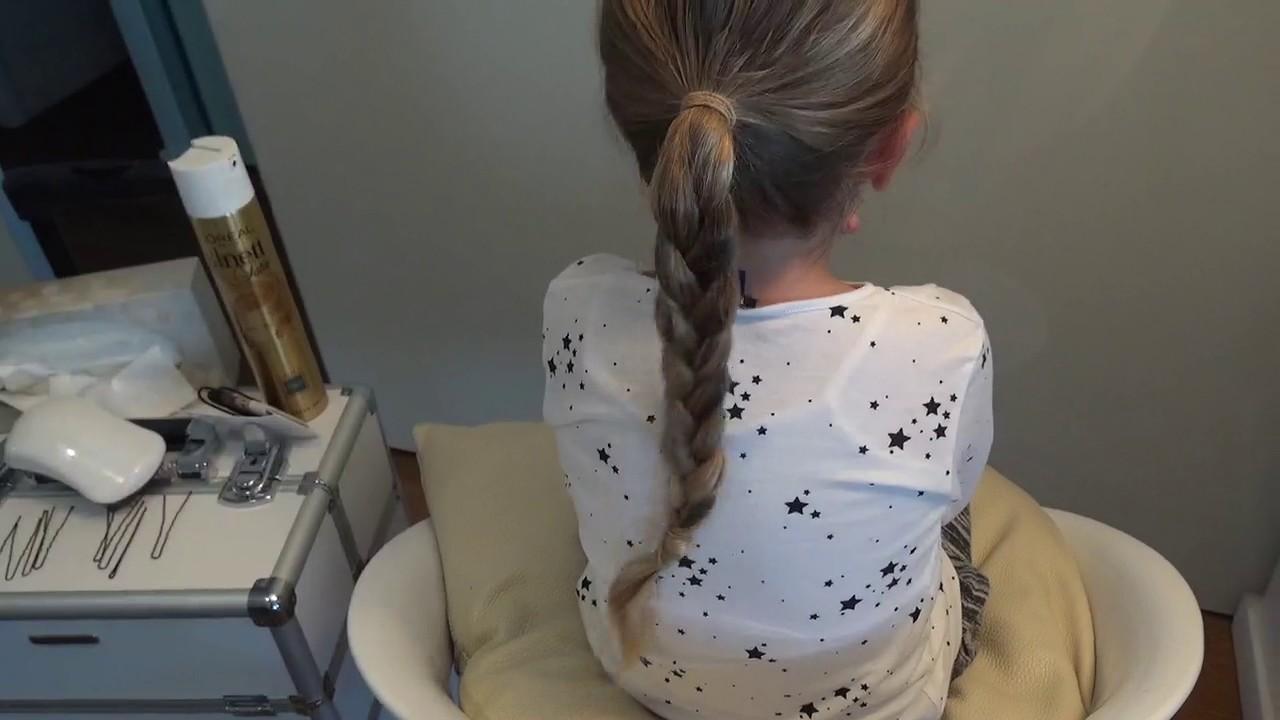 Tutoriel chignon de danseuse enfants et coiffure de gala - YouTube