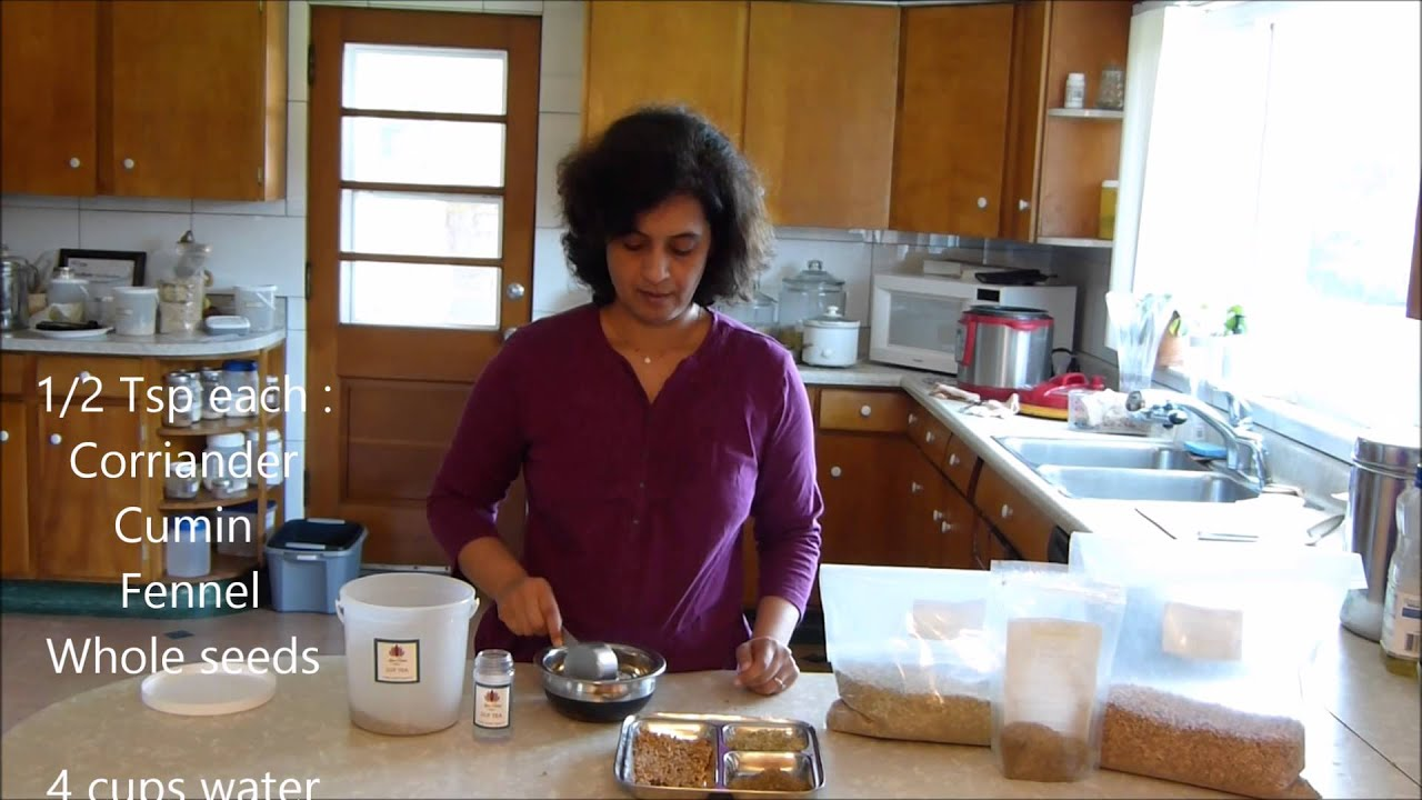 Make Your Own Ayurvedic Weight Loss & Detox Tea in 2 Minutes. - YouTube
