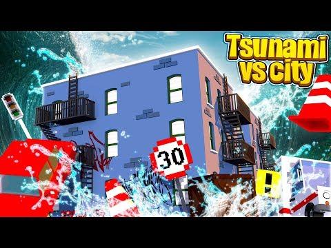 TSUNAMI VS MINECRAFT CITY!