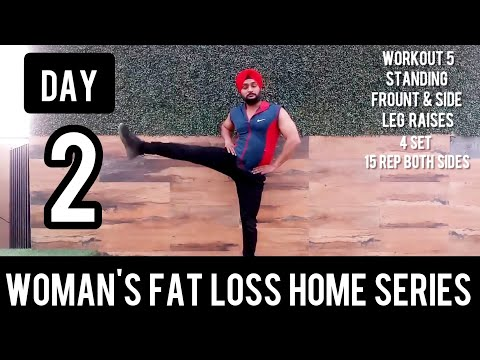 | DAY  2 | Women's Fat Loss Home Series in Hindi by Fitness Gusto