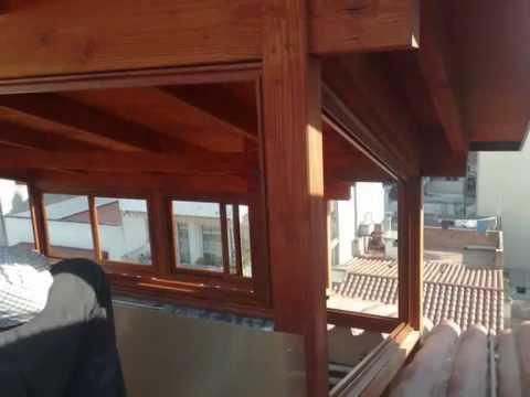 Cerramientos de terrazas en madera 8 youtube - Terrazas de madera ...
