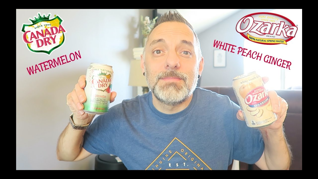 0d23357eb2 CANADA DRY WATERMELON & OZARKA WHITE PEACH GINGER SPARKLING WATER REVIEW!