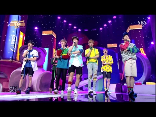"GOT7 ""Intro"" & ""딱 좋아(Just right)"" Comeback Stage @ SBS Inkigayo 2015.07.19"