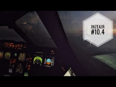 INZEAIR #10.4 - LANDING BY NIGHT AT PORT HARCOURT, NIGERIA INSIDE AN A330 COCKPIT